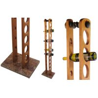 Floor Wine Rack with Granite Base