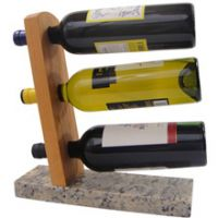 Tabletop 3 Bottle Wine Rack
